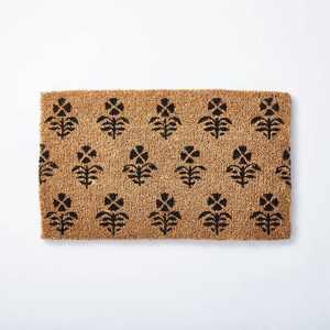 "1'6""x2'6"" Block Print Coir Doormat Natural - Threshold™ designed with Studio McGee"