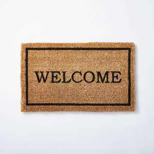 """1'6""""x2'6"""" Welcome Doormat Neutral - Threshold™ designed with Studio McGee"""