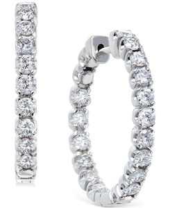 Diamond Hoop Earrings in 14k White Gold (2-1/2 ct. t.w.)