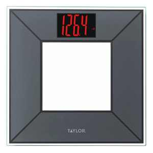 Digital Miter 3D Design Bathroom Scale Charcoal/Gray - Taylor