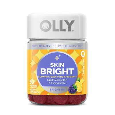 OLLY Skin Bright Gummy Supplement - 50ct