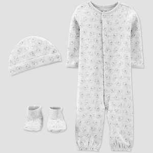Baby Convertible Nightgown with Cap and Booties - Just One You made by carter's Gray