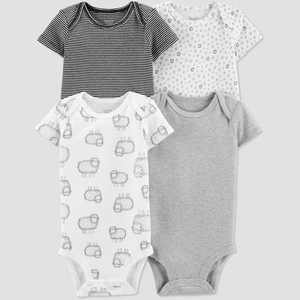 Baby 4pk Bodysuit - Just One You made by carter's Gray