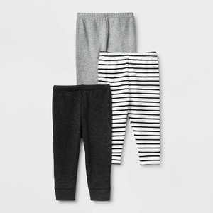 Baby 3pk Leggings - Cloud Island Black