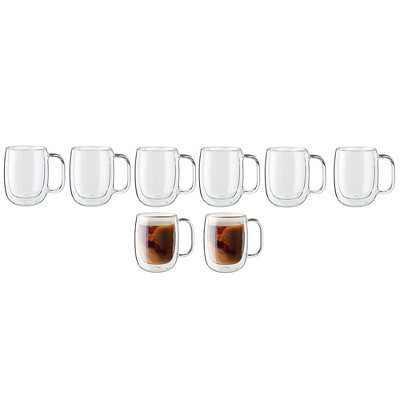 ZWILLING Sorrento Plus 8-pc Double-Wall Glass Coffee Mug Set
