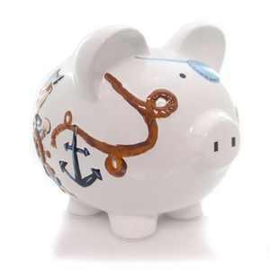 "Bank 7.75"" Pirate Piggy Bank Money Saver  -  Decorative Banks"