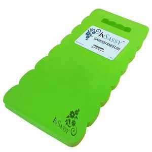 InSassy (TM) Extra Large Garden Kneeler Wave Pad - High Density Foam for Best Knee Protection (Green)
