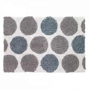Avanti Dotted Circles Shower Rug - White
