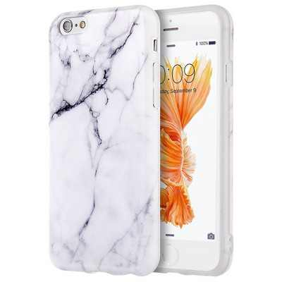 INSTEN TPU Marble Case compatible with Apple iPhone 6/6s, White