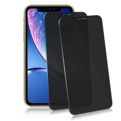 Insten 2-Pack Privacy Tempered Glass Screen Protector Full Coverage Edge-to-Edge protection Anti Spy Anti-Scratch LCD Shield for Apple iPhone 11 XR