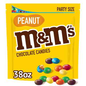 M&M's Peanut Milk Chocolate Candy, Party Size - 38 oz Bag