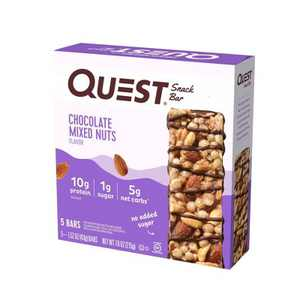 Quest Chocolate Mixed Nuts Snack Bar - 5ct/7.6oz