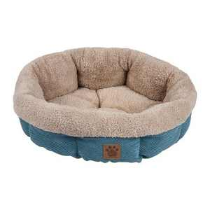 Petmate Precision Pet SnooZZy Mod Chic Stylish Round Cuddler Pet Dog Bed, Teal