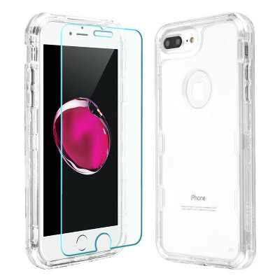 MYBAT For Apple iPhone 6 Plus/6s Plus/7 Plus/8 Plus Clear Hard Hybrid Case Cover