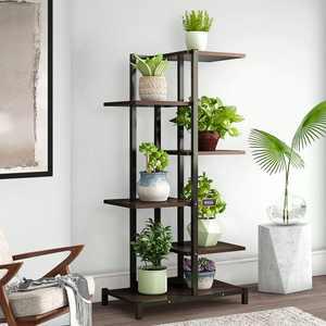 6 Tier Metal Plant Stand, Flower Pot Organizer Shelf Display Rack Storage Organizer Flower Planter Display Home Garden Decoration for Indoor Outdoor