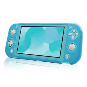 Insten Soft Silicone Skin [Lightweight][Anti-Scratch] Protective Rubber Gel Jelly Full Body Grip Cover Compatible with Nintendo Switch Lite 2019 Blue