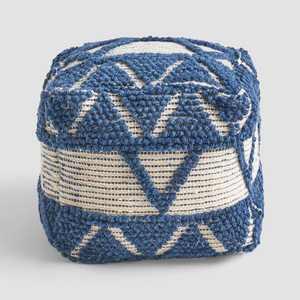 Azelea Boho Ottoman Pouf Blue/White - Christopher Knight Home