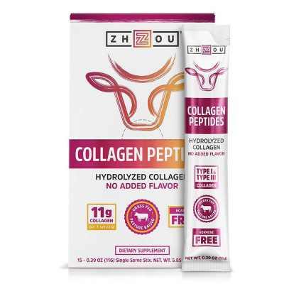 Zhou Collagen Peptides Stick - 15ct/5.85oz Total
