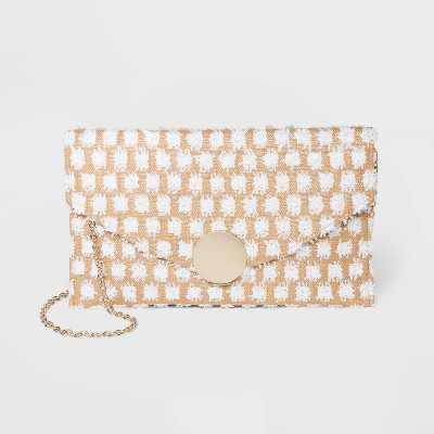 Estee & Lilly Polka Dot Flap Closure Envelope Clutch