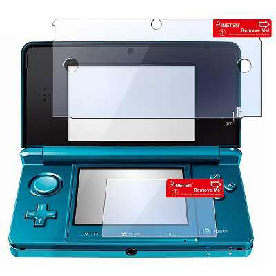INSTEN 2 pc Reusable Screen Protector compatible with Nintendo 3DS