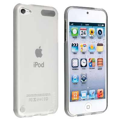 INSTEN TPU Rubber Skin Case compatible with Apple iPod touch 5th/6th Generation, Frost Clear White