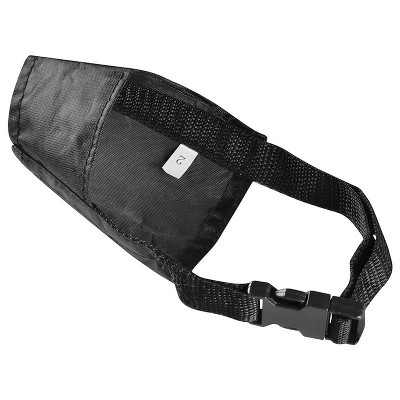 """Insten Nylon Fabric Dog Muzzle for No Biting, Black 5.5"""" Dog Mouth Cover for Small Dogs"""