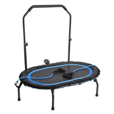 Stamina InTone Oval Fitness Rebounder Trampoline for Cardio with Handlebars