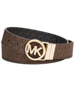 Reversible Signature with Logo Buckle Belt