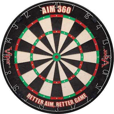Viper AIM 360 Sisal Self Healing Practice Dartboard w/ Removable Aiming Circles