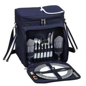 Picnic at Ascot Insulated Picnic Basket/Cooler Fully Equipped with Service for 2