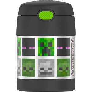 Thermos Minecraft 10oz FUNtainer Food Jar with Spoon - Black