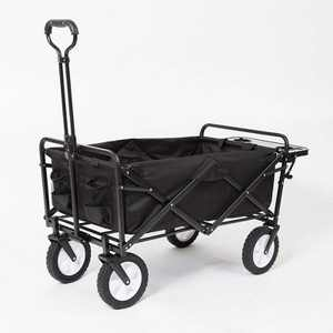 Mac Sports Collapsible Folding Outdoor Garden Utility Wagon Cart w/ Table, Black