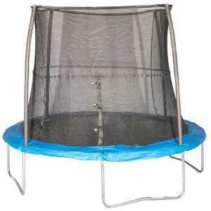 JumpKing 10 Foot Outdoor Trampoline  78sqft & Safety Net Enclosure, Blue JK10VC1