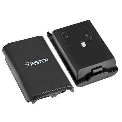 INSTEN Wireless Controller Battery Pack Shell compatible with Microsoft Xbox 360, Black
