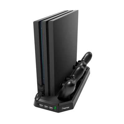 INSTEN Dual Controller Charging Station Stand with Cooling Fans Compatible with Sony PS4 Pro