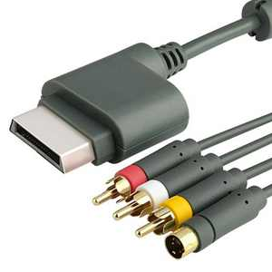 AV Composite and S-Video Cable compatible with Microsoft Xbox 360 / Xbox 360 Slim
