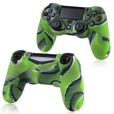 INSTEN Silicone Skin Case compatible with Sony PlayStation 4 Controller, Camouflage Navy Green