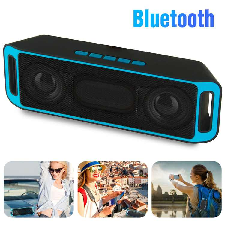 Wireless Bluetooth Speakers Built-in 1800mAh Battery Power Bank, Outdoor Portable TWS Speakers with Powerful Rich Bass Loud Stereo Sound, 33ft Wireless Range, HD Call, Compatible with iPhone, Android