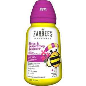 Zarbee's Naturals Daytime Sinus & Respiratory Support - Natural Berry Flavor - 7 fl oz