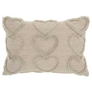 Life Styles Raised Hearts Throw Pillow - Mina Victory