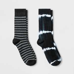 Men's Tie-Dye Novelty Crew Socks 2pk - Goodfellow & Co™ 7-12