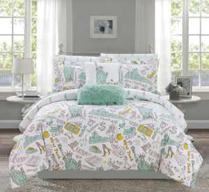 Liberty 9 Piece Queen Comforter Set