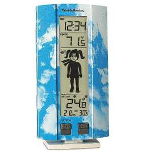 HearthSong Easy to Read Digital My First Weather Station with Indoor and Outdoor Temperature, Girl