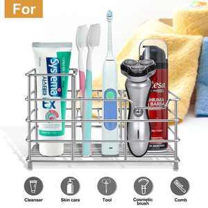 Toothbrush Holder, ABLEGRID Stainless Steel Toothbrush Toothpaste Holder