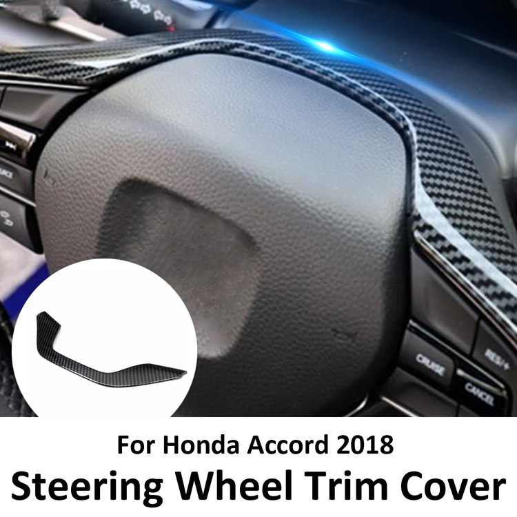 1pcs Carbon Fiber Steering Wheel Trim Cover in  Interior Steering Wheel  For Honda Accord 2018