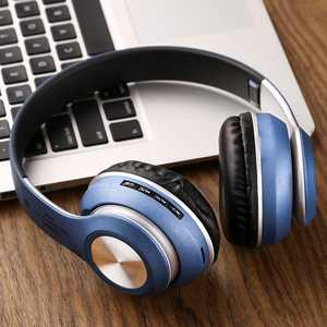 Bluetooth Headphones Over Ear, Hi-Fi Stereo GOOPRO Wireless Headset, Foldable, Soft for PC/Cell Phones/TV