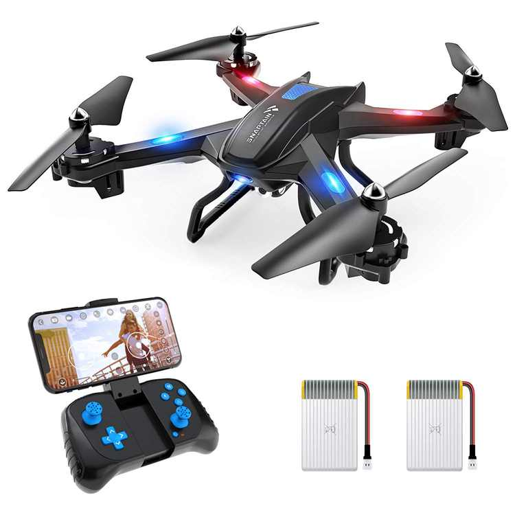 SNAPTAIN S5C-720P WiFi FPV Drone with 720P HD Camera, Voice/Gesture Control,  RC Quadcopter for Beginners Black