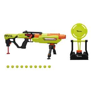 Nerf Rival Jupiter XIX-1000 Edge Series, 10 Blaster Rounds, Reactive Target, Ages 14+