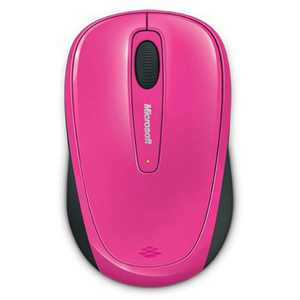 Microsoft 3500 Wireless Mobile Mouse- Pink - Limited Edition - Wireless - BlueTrack Enabled - Scroll Wheel - Ambidextrous Design