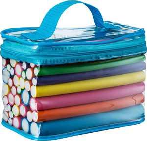 "Ustar Travel Size 7"" Flexible Bendy Foam Soft Twist Hair Roller, 42 Piece Set, Multi-color"